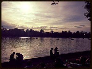 Retiro park lake