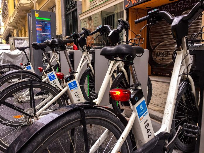 BiciMAD public bicycle rental service in Madrid