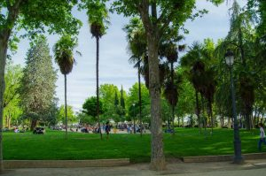 Temple of Debod Madrid gardens and playground for kids