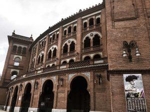 Las Ventas bullring in Madrid exterior