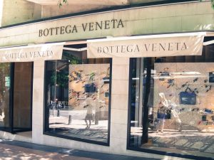 Bottega Veneta luxury shopping in Madrid