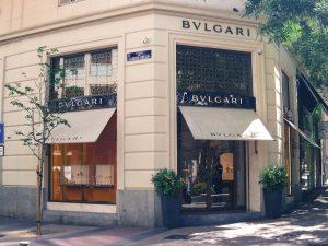 Bvlgari luxury shopping in Madrid