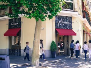 Cartier luxury shopping in Madrid