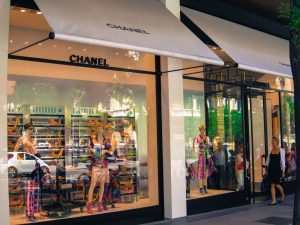Chanel luxury shopping in Madrid