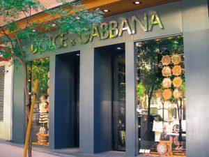 Dolce & Gabbana luxury shopping in Madrid
