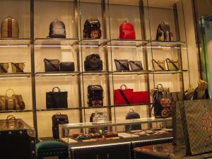 Gucci shop bags luxury shopping in Madrid