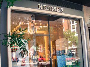 Hermes luxury shopping in Madrid