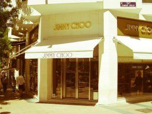 Jimmy Choo luxury shopping in Madrid
