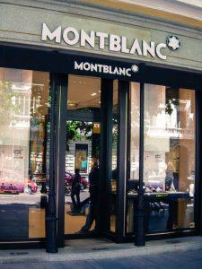 Montblanc luxury shopping in Madrid