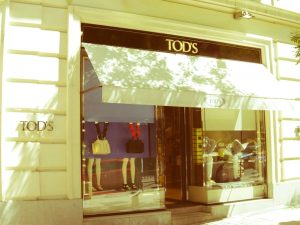 Tods luxury shopping in Madrid