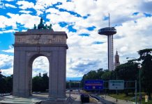 Moncloa Lighthouse Madrid skyview