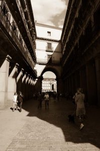 Plaza Mayor of Madrid an historical place arch access