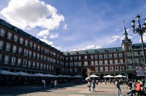 Plaza Mayor of Madrid terrace restaurant