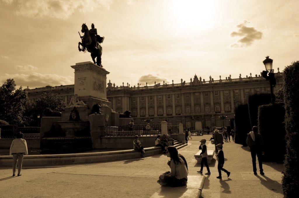 Madrid Royal Palace Oriente square view