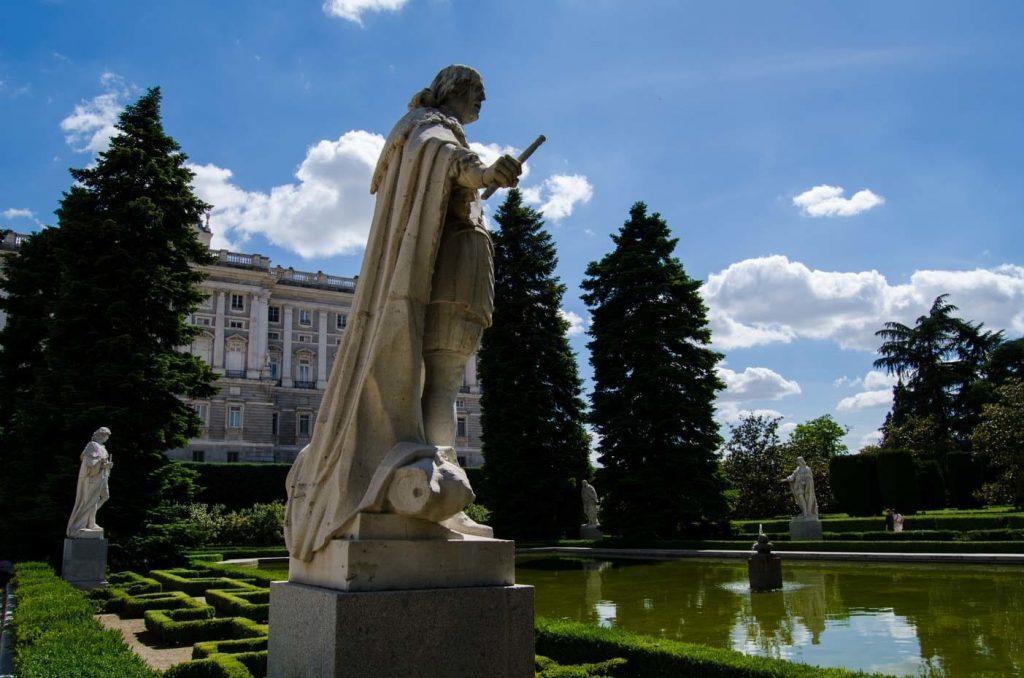 Madrid Royal Palace Sabatinis garden king Sculpture