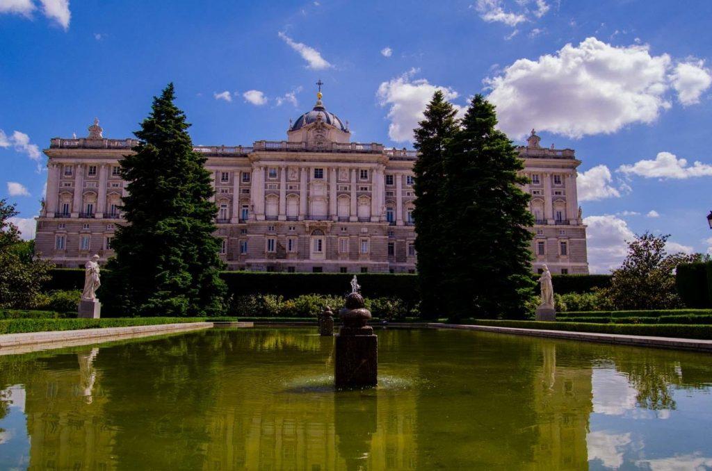 Madrid Royal Palace Sabatinis garden fountain