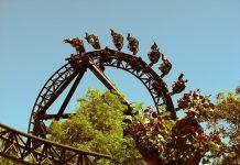 Madrid Amusement Park Tornado ride